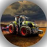 Fondant Tortenaufleger Tortenbild Geburtstag Trecker-Traktor A 10