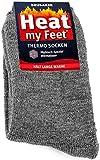 Brubaker 2 Paar Heat my Feet Unisex Thermo Socken Grau Größe 43-46