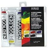 Golden Heavy Body - Acrylfarben - Einfuehrungs Set - 6 Farben