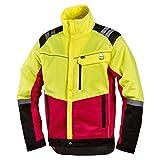 NEU! Worky Forstschutz-Jacke Komfort, modern, rot/neongelb, mit Reflexstreifen, Gr. S - XXL (S)