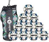 10 x DERBYSTAR Trainingsball - STRATOS PRO TT inkl. Ballsack