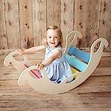 Nobsi Bunte Bogenwippe aus Holz - handgefertigter Kletterbogen, Kletter-Brücke für Babys und Kinder, nach Pikler und Montessori,, Jumbo