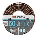 Gardena Comfort FLEX Schlauch 13 mm (1/2 Zoll), 50 m: Formstabiler, flexibler Gartenschlauch mit Power-Grip-Profil, aus hochwertigem Spiralgewebe, 25 bar Berstdruck, ohne Systemteile (18039-20)