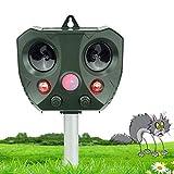 vonivi Ultraschall Katzenschreck Tiervertreiber Cat Dog Repellent Solar Wiederaufladbare Batterie Betrieben Fuchs Abwehr Katzenschreck Schreck für Garten