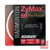 ASHAWAY Zymax 66 Fire Power Badminton-Saiten-Set, 0,66 mm, Weiß