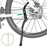 WOTEK Fahrradständer, Seitenständer Fahrrad Universal Aluminiumlegierung Fahrrad Ständer Rutschfester Gummiständer, Mountainbike, Rennrad, Fahrräder und Klapprad, Höhenverstellbar  24-29 Zoll
