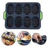 SUS Mini Baguette Backblech, Brot-Crisping-Tablett, Antihaft-Lochpfanne, für Brot-Crisping-Tablett, Laib-Backform, französisches Brot, Brotstock-Brötchen