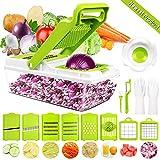 Gemüseschneider Gemüsehobel, DA Heng 9 in 1 Vielseitiger Gemüsehobel Kartoffelschneider Obstschneider, Handschutz, Frischhaltedose - Schneider für Tomaten, Zwiebeln, Käse, Gurken usw