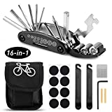 mopalwin 16 in 1 Fahrrad-Multitool, Multifunktionswerkzeug Reparatur Fahrradwerkzeug Tool Werkzeuge für Fahrrad Reparatur Set