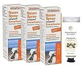 Nasenspray Ratiopharm 15 ml - 3er Sparpack inkl. einer hochwertigen Handcreme o. Duschbad von Pharma Nature