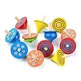 Crazy-m 12Stück Kreisel aus Holz ,Holzkreisel Spielzeug Kreisel aus Holz Bunte,Holzkreisel,spielzeugkreisel Kinder!