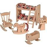 Beluga Spielwaren 70114 - Puppenhausmöbel 'Kinderzimmer', 6-teilig