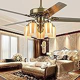 OUTFE Westinghouse Deckenventilator mit Licht, Dimmbare Windgeschwindigkeit Deckenleuchte Quiet LED Fan-hängende Lampe für Schlafzimmer Kinderzimmer Wohnzimmer Büro Lampe