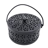Mengonee Iron Hollow Mosquito Coils Box Moskito Killer Pest Repeller Mosquito Coils Holder Case