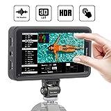 Desview R5 Kamera Monitor Touchscreen, 5,5 Zoll DSLR Field Monitor, 3D-Lut Externer Feldmonitor, 1920x1080 Full HD, 4K HDMI Eingang/Ausgang, Dual-Batterieplatte für Canon Nikon Panasonic Sony