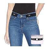 SUOSDEY Gürtel Damen Schwarz,Elastischer Gürtel für Jeans Hosen Stretchgürtel Gürtel für Damen Herren ohne Schnalle gürtel,schwarz,60-84