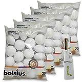 DecoLite: 100 Schwimmkerzen von Bolsius mit 4,5h Brenndauer & 1 Kerzenprofi Stabfeuerzeug - (Weiß)