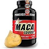 MACA 15000 | Reines Bio Maca Wurzel Extrakt | HOCHDOSIERT | Vegan | + Vitamin C | 2-Monatsvorrat | 120 Kapseln | Deutsche Herstellung nach IFS