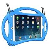 TopEsct iPad Mini Hülle Kinder Anti-Shock Stoßfest Griff Ständer Schutzhülle für iPad Mini, Mini 2, Mini 3, Mini 4 und Mini 5 2019(iPad Mini, Blau)