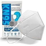 Eventronic 20 Stück fünfschichtige FFP2 maske/KN95-Masken, staubdichtes, antiallergisches, schützendes und komfortables Design bieten den besten Filtereffekt zur Vorbeugung und zum Schutz