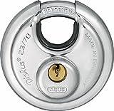 ABUS 44754 23/70 Diskus-Hangschloss, grau, 70 mm