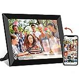 WiFi Digitaler Bilderrahmen mit Touchscreen 8-Zoll-IPS (1280 x 800), automatisch drehbares Hochformat und Querformat, integrierter 16-GB-Speicher, Momente sofort über die Frameo-App