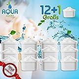 WASSERFILTER-KARTUSCHEN 12er + 1Gratis Wasserfilter Brita Maxtra Marella KOMPATIBEL || Kartuschen von AquaClean® + 1 Gratis || QUALITÄTS-GEPRÜFT (12 + 1)