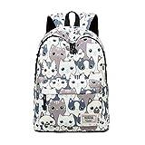 Joymoze Modischer Freizeitrucksack für Mädchen Jugendliche Schulrucksack Frauen Aufdruck Rucksack Geldbeutel (Katze)