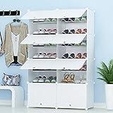 JOISCOPE PREMAG Portable Schuhablage Organizer Tower, weiß, modulare Schrankregal für platzsparende, Schuhregal Regale für Schuhe, Stiefel, Hausschuhe 2 * 7