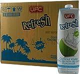 UFC Reines Kokoswasser 100% Pure Kokosnusswasser Thailand 1 Liter Coconut Water 24er Pack