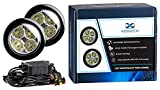 AUTOLIGHT 24 LED Tagfahrlicht Rund-Design 12V 8 x SMD LEDs R87 Modul