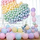 Macaron Ballon,Macaron Luftballons,Bunt Luftballons Pastell, Latex Farbige Ballons, Macaron Luftballons für Party Dekorative Ballons,Geburtstag Hochzeit Engagement Baby Dusche