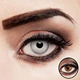 aricona Kontaktlinsen grau ohne Stärke intensiv farbige Jahreslinsen 2 Stück