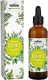 Vitamin D3 + K2 Tropfen 75ml - Premium 99,7+% All-Trans (K2VITAL® von Kappa) + hoch bioverfügbares Vitamin D3 - Laborgeprüft, hochdosiert, flüssig ohne Zusätze hergestellt in Deutschland