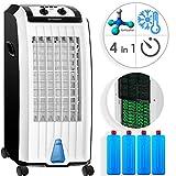 KESSER® 4in1 Mobile Klimaanlage   Klimagerät   Ventilator Klimaanlage   7 L Tank Timer 3 Stufen   Ionisator Luftbefeuchter   Luftkühler   Schwarz/Weiß