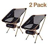 Sportneer Campingstuhl 2er Set, Tragbar Leicht Faltbar Camping Stuhl bis zu 150 kg für Backpacking/Wandern/Picknick/Fische