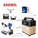 PowerOak 400wh mobiler energiespeicher solar generator lithium ionen power station 2AC 220V 2DC12V QC3.0 USB5V für Camping Reise CPAP Emergency 3-WEGE-AUFLADUNG