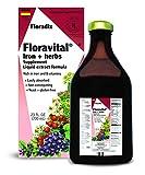 Salus Kräuterblut Floradix mit Eisen – zur Vorbeugung von Eisenmangel – mit Eisen(II)-gluconat - vegan - 700 ml - (ROT)