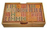 LOGOPLAY Domino Doppel 9 - Legespiel - Gesellschaftsspiel aus Holz mit 56 Spielsteinen