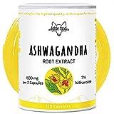 fable food Ashwagandha Kapseln hochdosiert | 500mg Wurzel-Extrakt 6:1 pro Kapsel | 7% Withanolide | 120 Kapseln | Vegan ohne Zusatzstoffe | Premium Qualität Laborgeprüft | Hergestellt in Deutschland