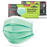 Donnerberg Gesichtsmaske 50 Stück 3-lagige Einwegmasken Atmungsaktiv Einmalmaske elastische Ohrschlaufen Maske Mint