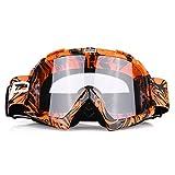 Qiilu Motorrad Goggle Motocross Wind Staubschutz Fliegerbrille Snowboardbrille Schneebrille Skibrille Wintersport Brille Dirtbike Off-Road Schutzbrille