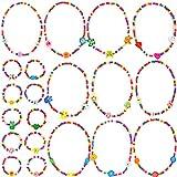 MOOKLIN ROAM 20 Stück Kinder Halsketten Kleine Prinzessin Armbänder Regenbogen Freundschaftsarmbänder Bunt Kinderschmuck Set für Mädchen Kinder Kindergeburtstag Gastgeschenke Vorgeben Dress Up