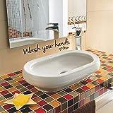 BLOUR NEU Wandaufkleber Veröffentlichen Sie das Badezimmer Waschbecken Vinyl Art Wandbild Waschen Sie Ihre Hände MutterBrief Aufkleber Für die Heimdekoration