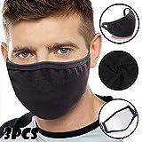 Maske, Hochwertiges Gesichtsmaske Waschbar, Multifunktional Trainingsmaske für Radfahren, Laufen, Staubschutzmaske für Damen, Herren (3PCS)