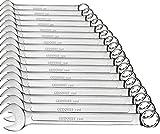 GEDORE red Ring-Maulschlüssel-Satz, 17-teilig, SW 6-22, Chrom-Vanadium-Stahl, Silber