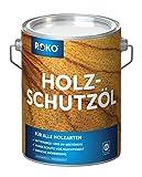 ROKO Holzschutzöl - 1 Liter - Farblos - Premium Holzöl für alle Holzarten - Dauerhafter Schutz für Außen und Innen