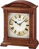 Seiko Tischuhr braun Holz (Eiche) Schleichende Sekunde QXG123B