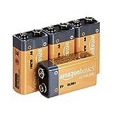 AmazonBasics Everyday Alkalibatterien, 9V, 4 Stück (Aussehen kann variieren)