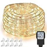 Nurkoo 10m LED Lichtschlauch, 240 LEDs Lichterschlauch IP65 Wasserfest, Lichterkette Strombetrieben mit 7.2 W EU-Stecker für Innen Außen Party Hochzeit Deko, Warmweiß Leuchtschlauch